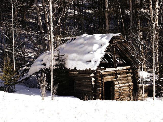 cabana in winter