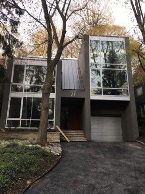 roll up garage door - residential house