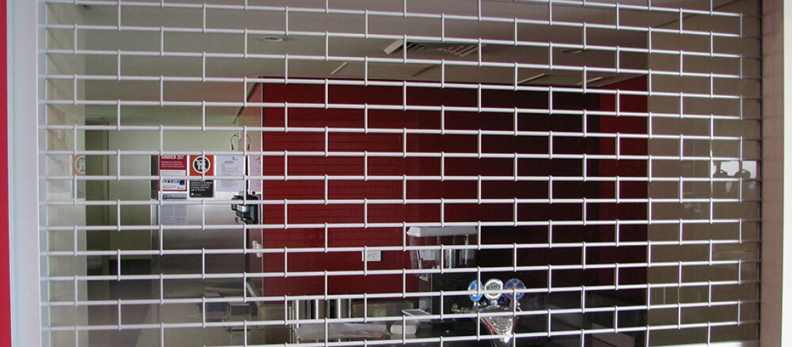 commercial security grill